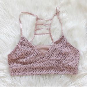 Wish and whim blush cute sexy bralette size L